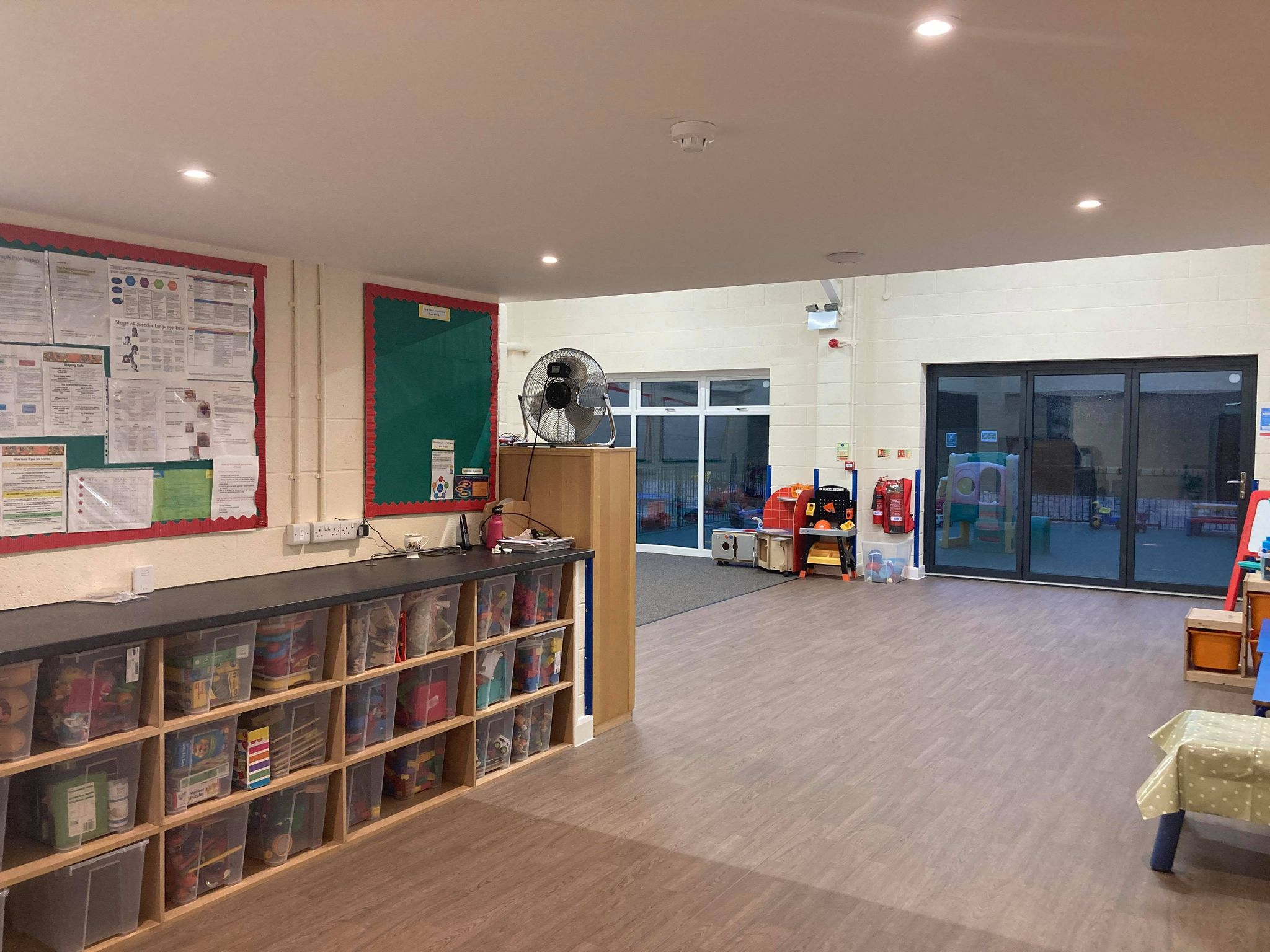 toddler and pre school classroom